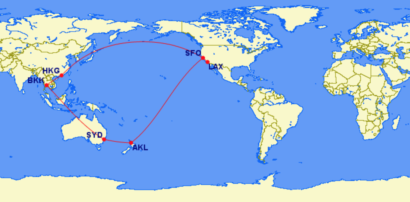 Us To New Zealand Australia And Hong Kong For 80 000 Miles 133